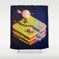 Earth Sandwich One, Variant D Shower Curtain