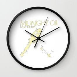 midnight oil Wall Clock