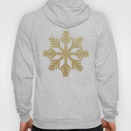 Gold Glitter Snowflake Hoody