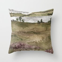Scene from the Galloway Forest (2) Throw Pillow