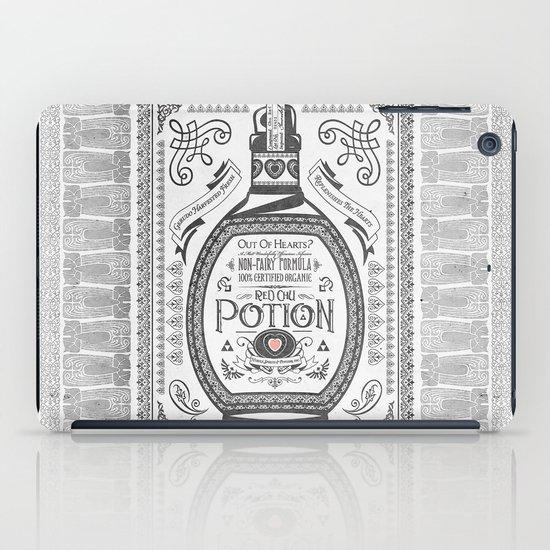 Legend of Zelda Red Potion Vintage Hyrule Line Work Letterpress iPad Case