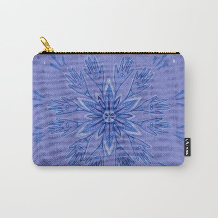 Hand Flower Carry-All Pouch