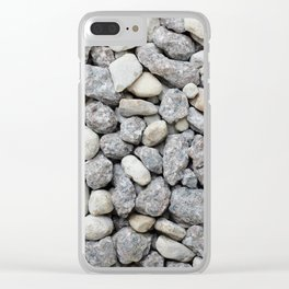 White and grey roadstone Clear iPhone Case