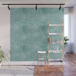 Mint Glam Glitzy Glitter Stripes Wall Mural