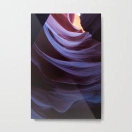 Abstract Canyon Slide Metal Print