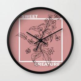 Sweet creature Wall Clock