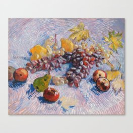 Grapes, Lemons, Pears, and Apples by Vincent Van Gogh Canvas Print