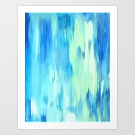 tears on canvas, case of the blues Art Print