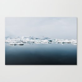 Ethereal Glacier Lagoon in Iceland - Landscape Photography Canvas Print