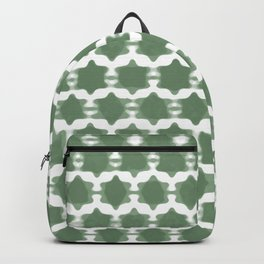 Hexagram Pattern: Green Backpack