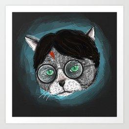 Potter Cat  Art Print