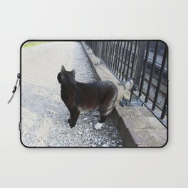 Railway Cat Observing Laptop Sleeve
