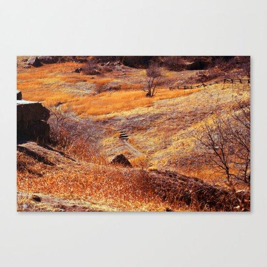 Valley in orange Canvas Print