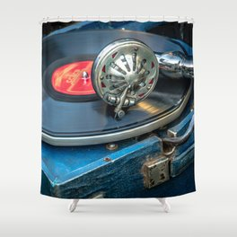 Old gramophone Shower Curtain