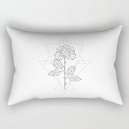Polygonal Rose Rectangular Pillow