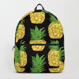 Pineapple Pop Black Backpack