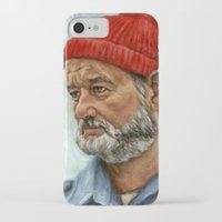 bill murray iPhone & iPod Cases featuring Bill Murray / Steve Zissou by Heather Buchanan