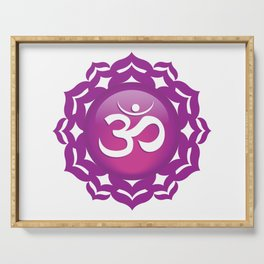 Crown Chakra Symbol Serving Tray