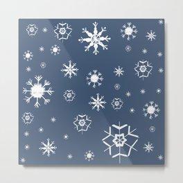 Blue Winter Dream #1 #snowflakes #decor #art #society6 Metal Print