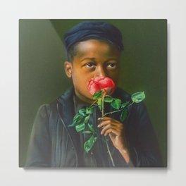 African American Masterpiece 'American Beauty' Portrait Painting Metal Print
