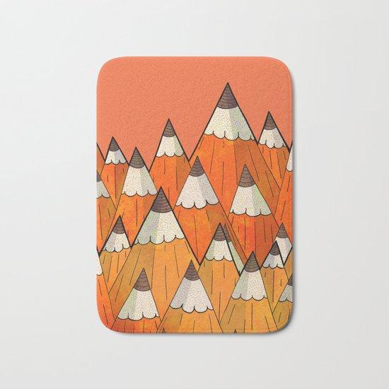 Pencil Mountains Bath Mat