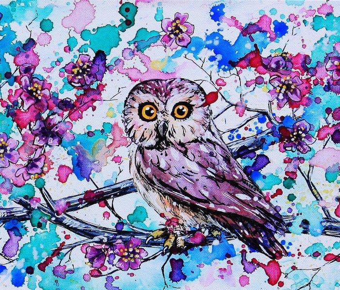 Little Owls version 3 Metal Travel Mug