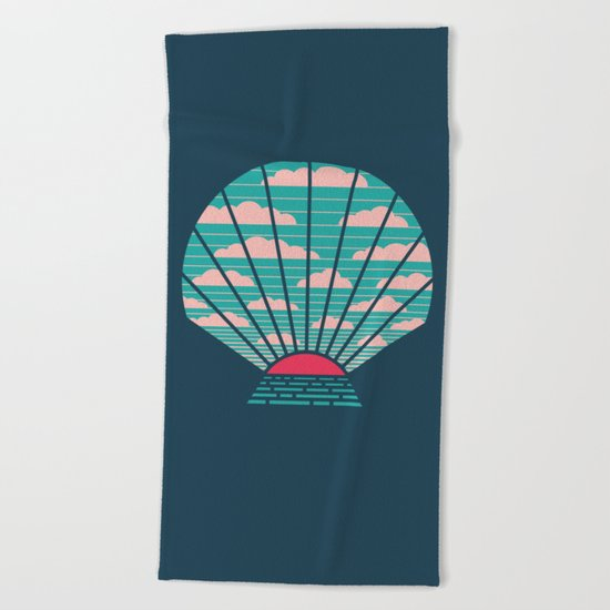The Birth of Day Beach Towel