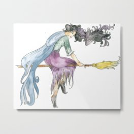 Beautiful Witch Metal Print