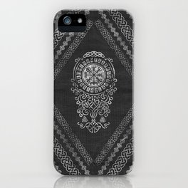 Vegvisir  with Tree of life  Yggdrasil  and Runes iPhone Case