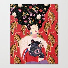 Let your mind blossom - Fashion portrait Canvas Print