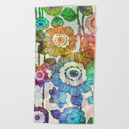 Hanging Flower Garland #2 Beach Towel