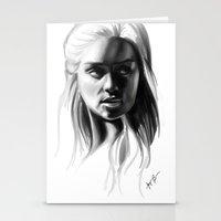 daenerys targaryen Stationery Cards featuring Daenerys Targaryen by Taylor Barron