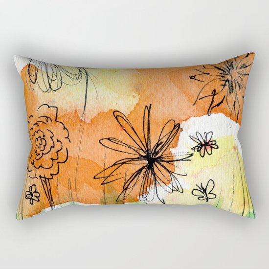 Flower Doodle 2 Rectangular Pillow