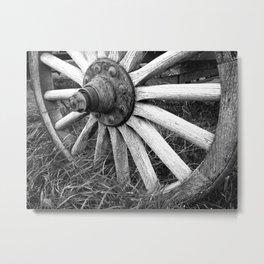 Wagon Wheel #3 Metal Print