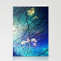 night sky Stationery Cards featuring night sky by Sylvia Cook Photography