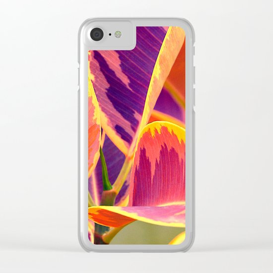 Tropical abstract(6). Clear iPhone Case