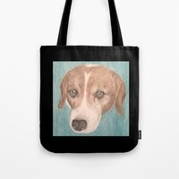 beagle Tote Bags featuring Beagle by Thomas Whitfield