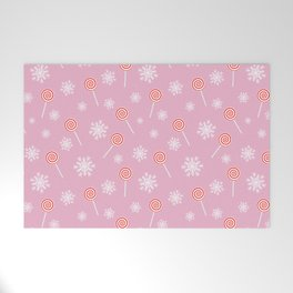 Winter lollipop design Welcome Mat