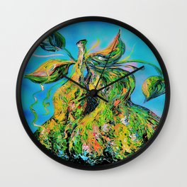 Abstract Pears Wall Clock