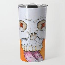 Color skull, cartoon bright colored skull Travel Mug