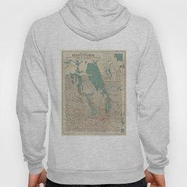 Vintage Map of Manitoba (1915) Hoody