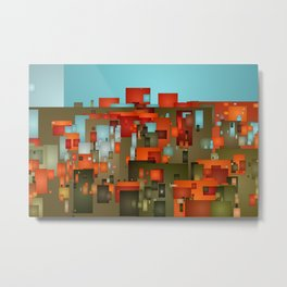 Abstract city in color by lh Metal Print