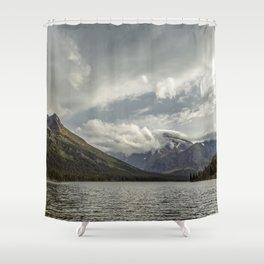 Breakthrough at Lake Josephine Shower Curtain