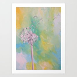Dandelion Tea Art Print