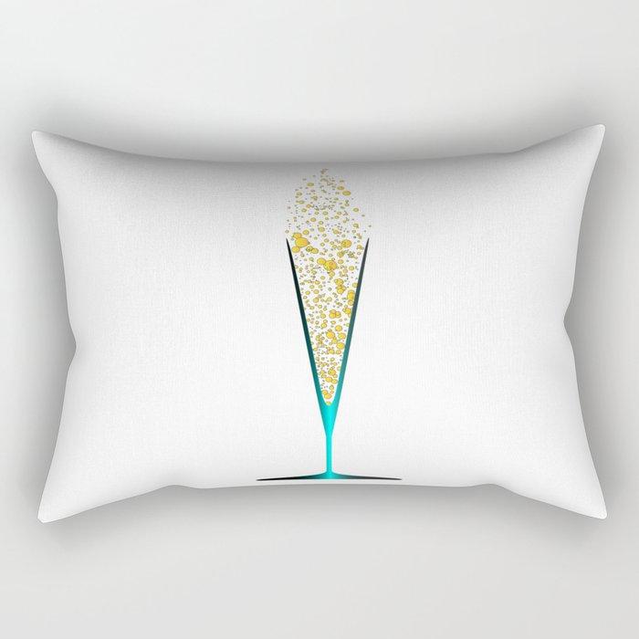 V Shaped Champagne Glasses Rectangular Pillow