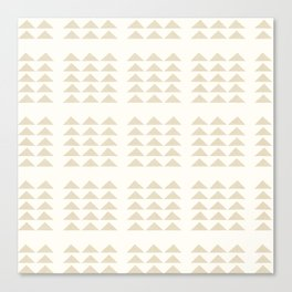 Tribal Triangles in Tan Canvas Print