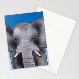 Color Pop Elephant Stationery Cards