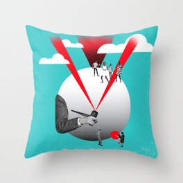 And They Danced On The Moon... Throw Pillow