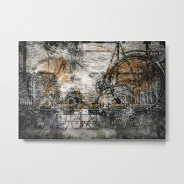 City-Art AMSTERDAM Bicycles Metal Print
