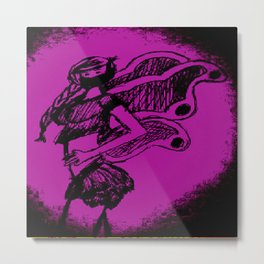 """Women with no faces--series """"Fairy Metal Print"""